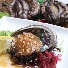 Abalone sashimi