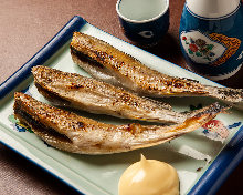 Seared saffron cod