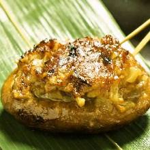 Grilled beef zabuton (chuck flap) skewers