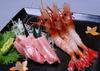 Chutoro and botan shrimp sashimi