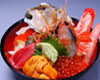 Luxurious seafood donburi