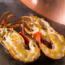 Spiny lobster Teppanyaki
