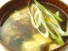 Fish stock soup