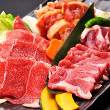 "Assorted mongolian mutton barbecue (""Jingisukan"")"