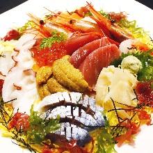 Seafood rice bowl