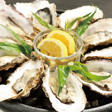 Oyster steamed with sake