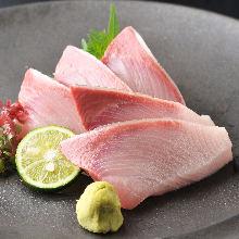 Japanese amberjack sashimi