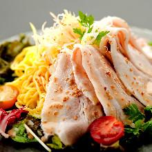 Pork shabu-shabu ramen salad