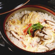 Snow crab rice soup