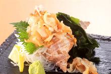 Whelk sashimi