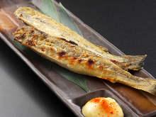 Lightly-dried saffron cod