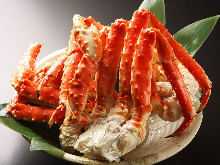 Boiled red king crab