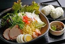 Ramen and salad set