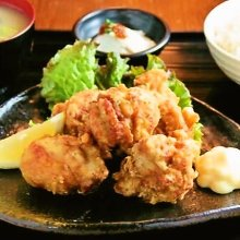Fried chicken set meal