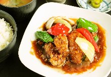 Sweet and sour pork meal