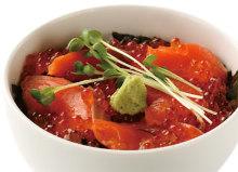 """Ishikari"" grilled salmon and salmon roe rice bowl"