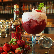 Triple Berry and Mascarpone Cheese Cocktail