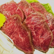 Thinly sliced top blade steak