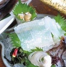 Squid sashimi