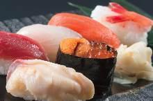 Assorted nigiri sushi