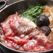 Beef and vegetable sukiyaki