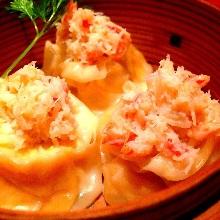Steamed crab dumplings