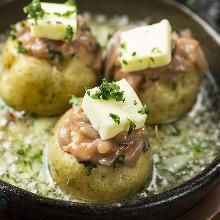 Potato butter and salted fish entrail ajillo
