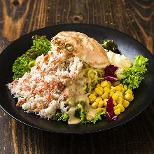 Crab and ramen salad