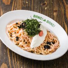 Pasta with cod roe cream sauce