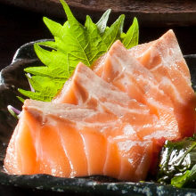 Fatty salmon sashimi