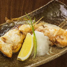 Kamayaki (grilled fish collar meat) of the day