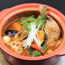 Chicken soup curry