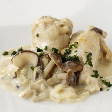 Simmered in white sauce