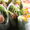 Smoked Salmon & Japanese Radish Spring Rolls Salad