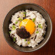 Tamagokake gohan topped with truffle