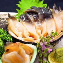 Sakhalin surf clam sashimi