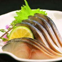 Live mackerel sashimi