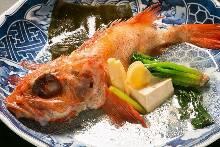 Simmered kichiji rockfish