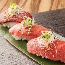 Beef nigiri sushi