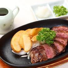 Teppan-grilled beef skirt steak