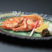 Salt roasted kichiji rockfish