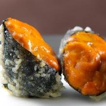 Sea urchin tempura