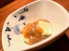 Shuto (salted fish entrails) with cream cheese
