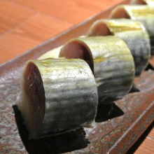 Rod-shaped sushi