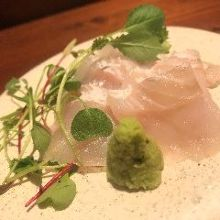 Whitefish sashimi of the day