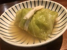 Stuffed cabbage rolls (a type of oden)