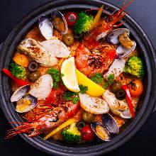 Daily seafood paella