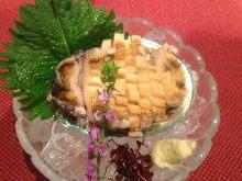 Abalone (sashimi or seared)