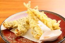 Shishamo smelt tempura