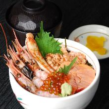 Broiled seafood rice